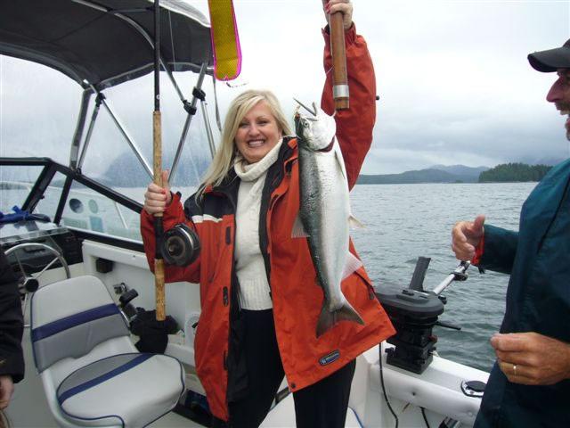 Tina Hayes Fishing Tofino